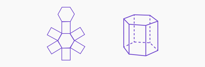 net of a hexagonal prism