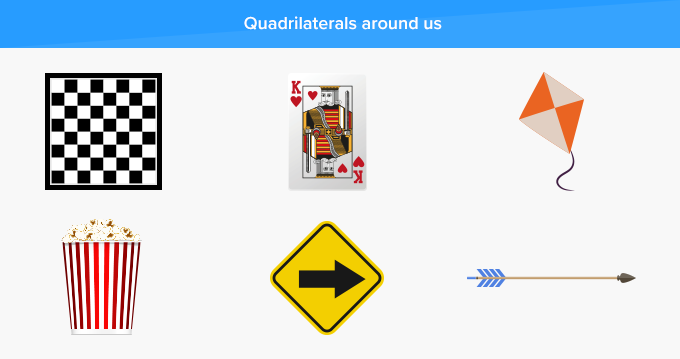 Quadrilateral real-life examples we see around us