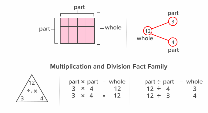 Multiplication and division Fact family