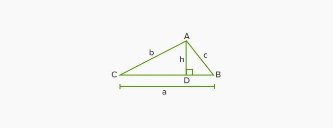 area of an acute triangle