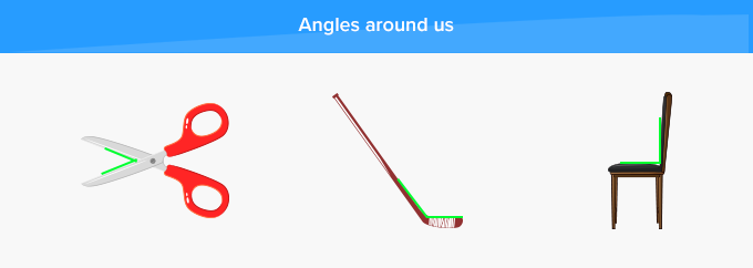 angles in things around us real life example