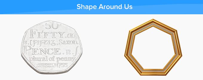 heptagon shapes around us