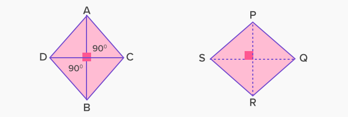 diagonal intersection at right angle