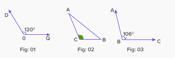 example of obtuse angle