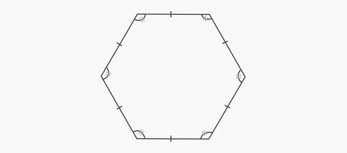 Properties of a regular hexagon