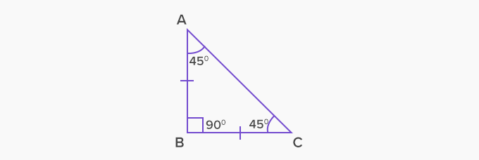 isosceles right triangle