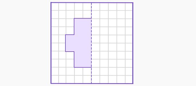 Line of symmetry example 1