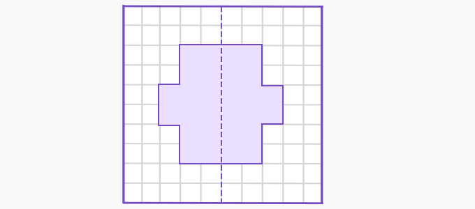 Line of symmetry example 2