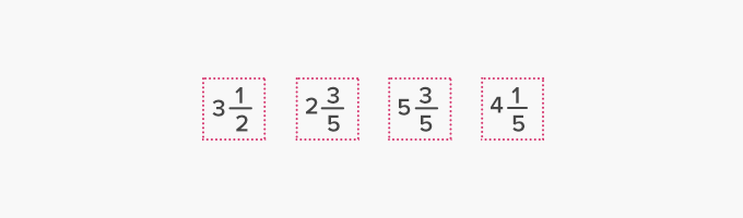 example of mixed number