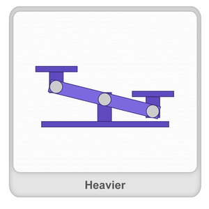 Heavier Worksheet