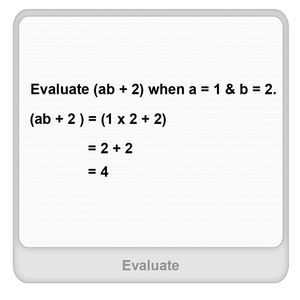Evaluate Worksheet