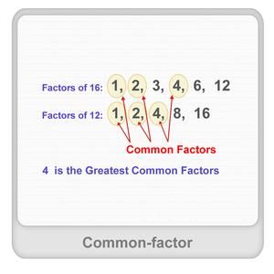 Common factor Worksheet