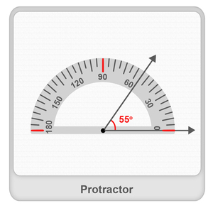 explain how to use a protractor to measure an angle