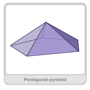 Pentagonal pyramid Worksheet