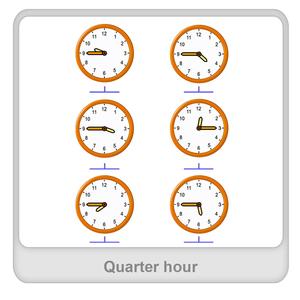 Quarter hour Worksheet