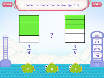 Compare Fractions With Same Numerators