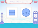 Partition shapes : equal shares