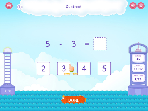 Subtract without pictures Worksheet