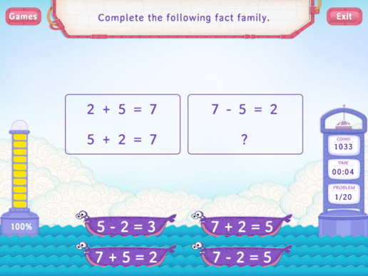 Fact Families Worksheets First Grade Math – Math Fact Family Worksheets