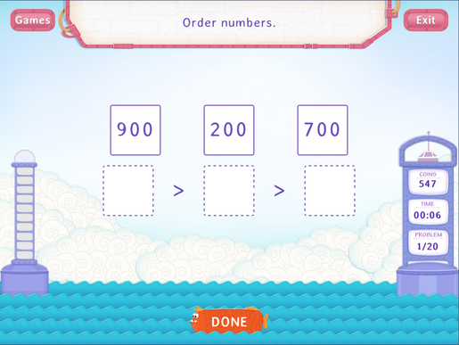 Order numbers upto 1000 Worksheet