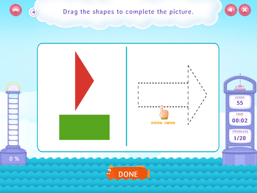 Compose shapes Worksheet