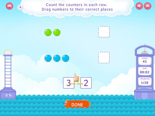 Count with Counters - Practice with Fun Math Worksheet
