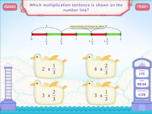 Multiply Fractions by a Whole Worksheets - Fourth Grade Math