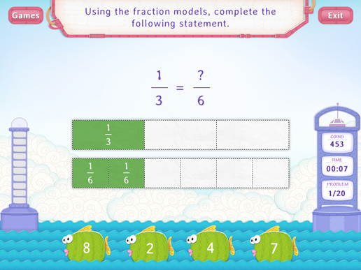 Equivalent Fractions using Models Worksheets - 3rd Grade Math